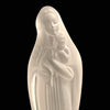 Frosted Crystal Madonna & Child Statue