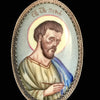 Hand Painted Saint Luke Pendant