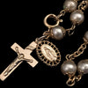Vintage Faux Pearl Rosary Bracelet with Tag