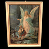 Vintage Guardian Angel Framed Print