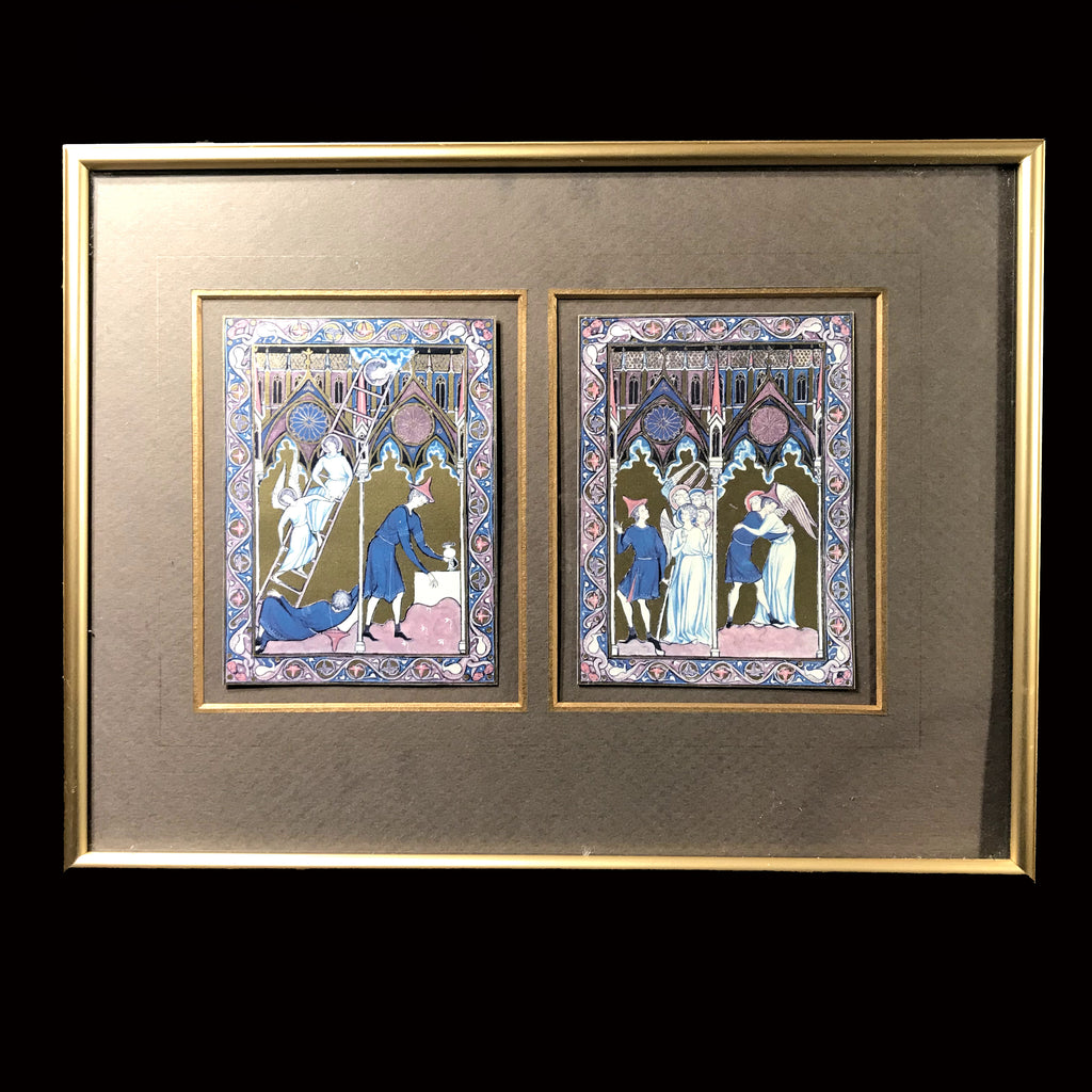 Framed Illuminations from the Psalter of St. Louis