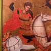 Vintage Saint George and the Dragon Icon from Greece