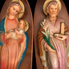 Madonna & Child and Saint Joseph Statue Set