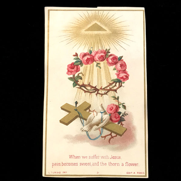 Suffer with Jesus Holy Card - The Vintage Catholic