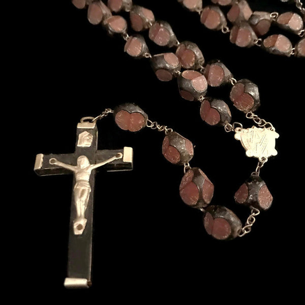 Large Carved Seed Rosary