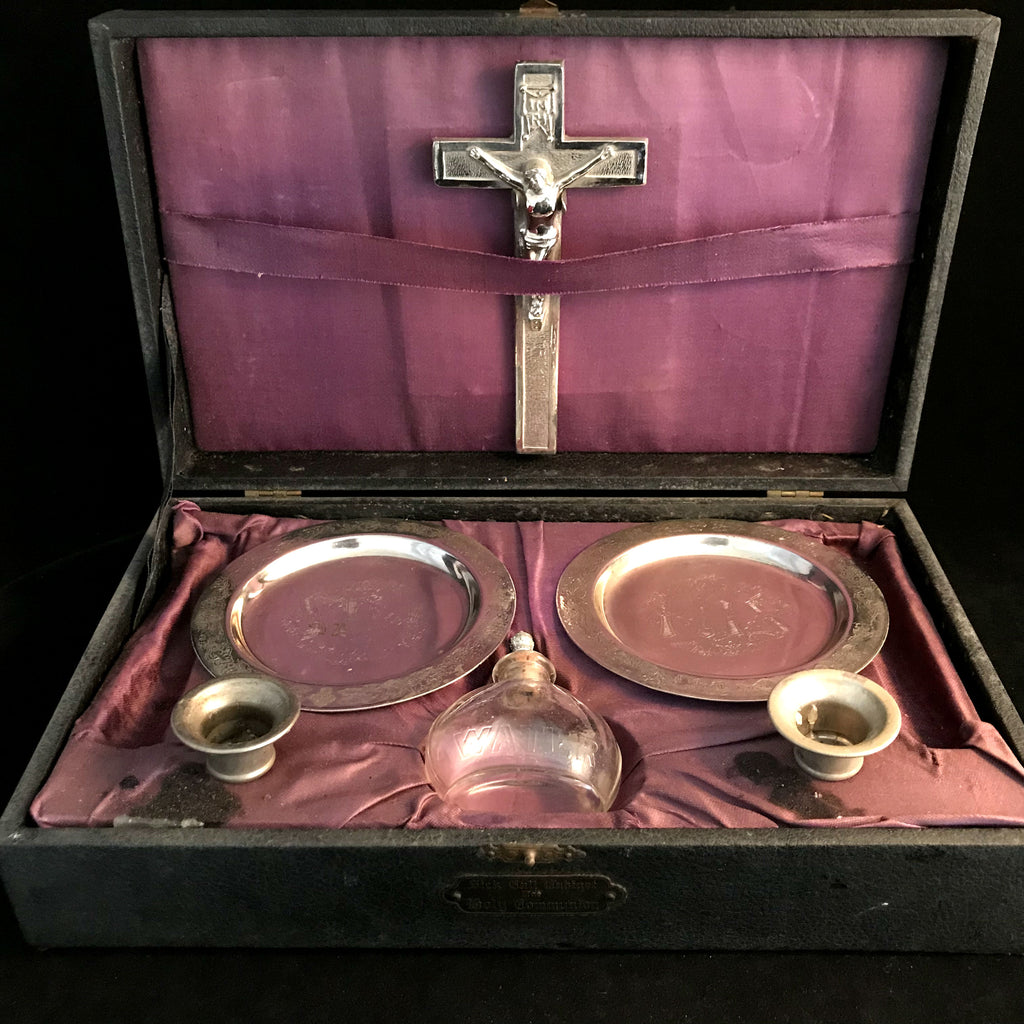 Vintage Sick Call Cabinet for Holy Communion - The Vintage Catholic