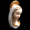 Mid Century Madonna Bust with Golden Halo