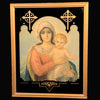 Vintage Madonna & Child Print in Reverse Painted Frame