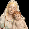 Vintage Madonna & Child with Roses Wall Decor
