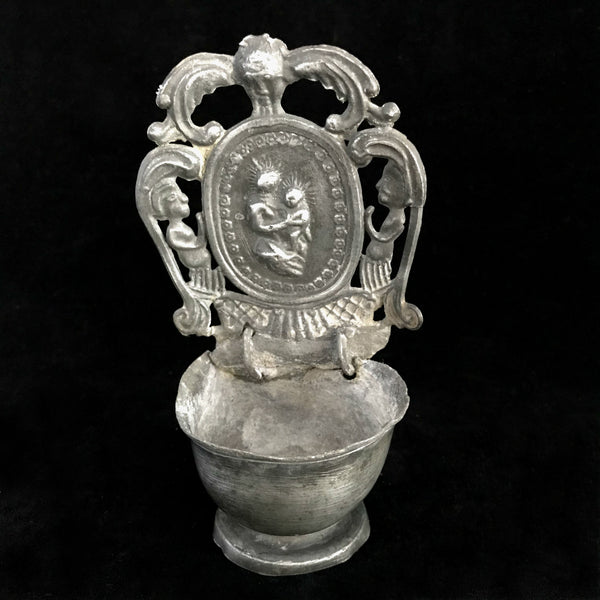 18th Century German Pewter Holy Water Font - The Vintage Catholic