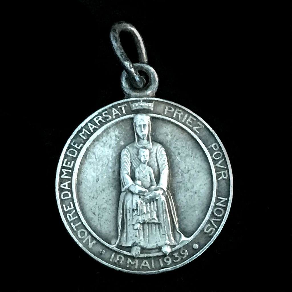 Our Lady of Marsat / Saint Gregory of Tours Medal, 1939 - The Vintage Catholic
