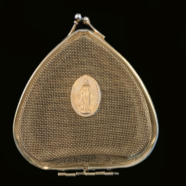 Mesh Miraculous Medal Rosary Case