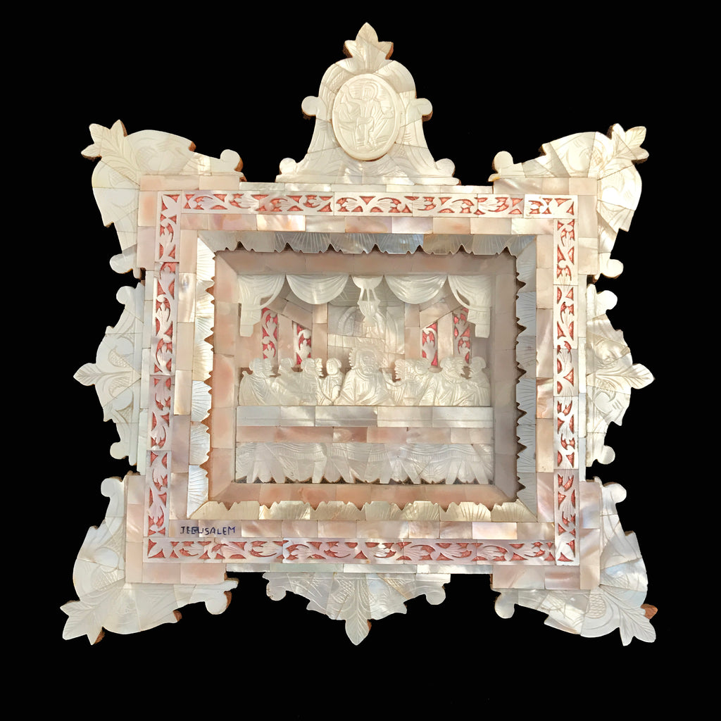 Mother of Pearl Last Supper Shadowbox