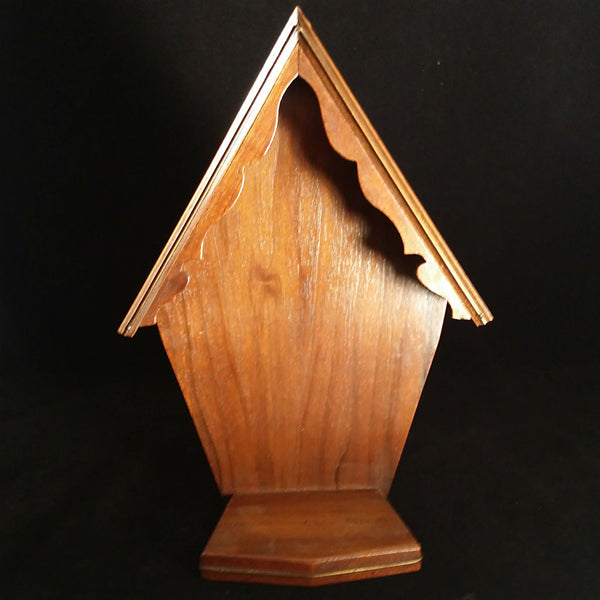Vintage Wooden Oratory, Statuary Niche - The Vintage Catholic