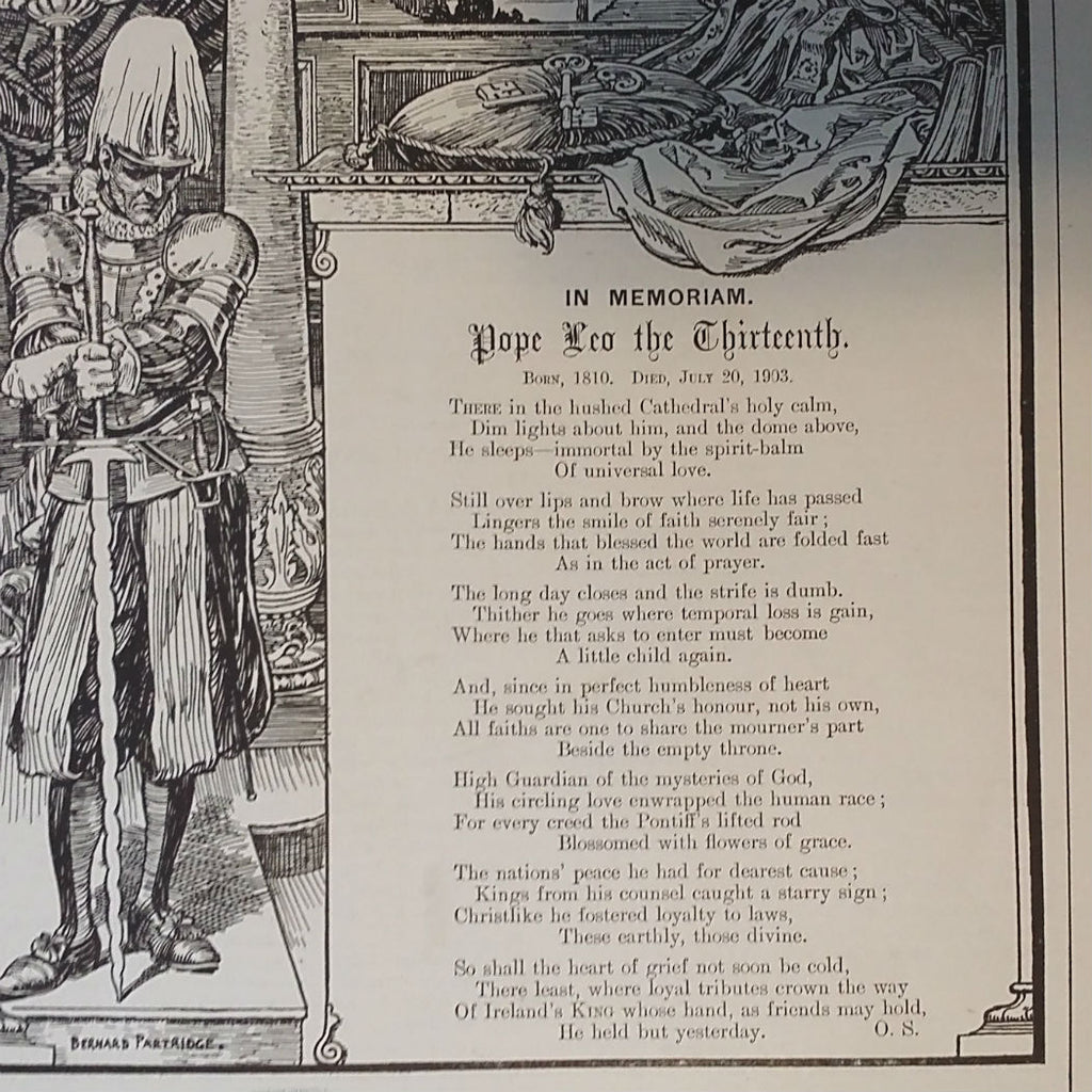 Pope Leo XIII Memorial Poem & Illustration, Punch Magazine, 1903 - The Vintage Catholic