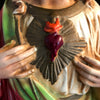 Hand Painted Sacred Heart of Jesus Statue
