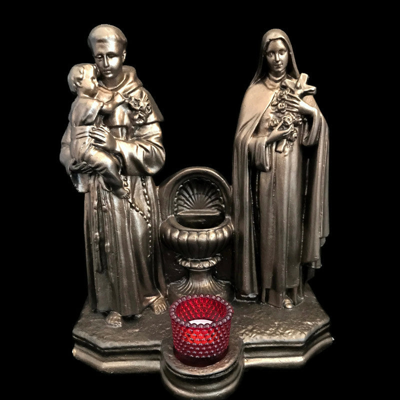 Holy Water Font with St. Anthony & St. Therese