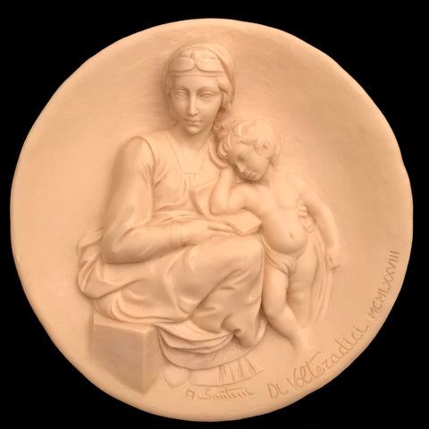 Pensive Madonna Decorative Plate, by Santini