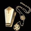 Mourning Rosary with Casket Case