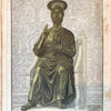 Antique Lithograph Print of Saint Peter on the Throne - The Vintage Catholic