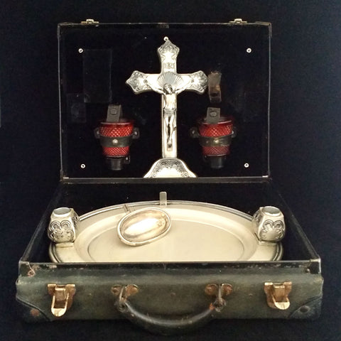 Suitcase Last Rites Travel Set - The Vintage Catholic