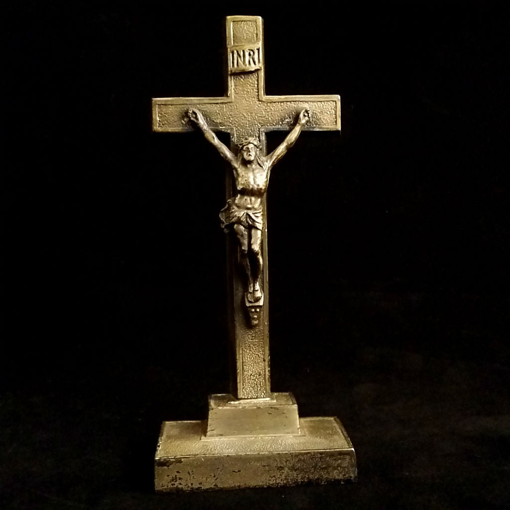Elegant Tabletop Crucifix - The Vintage Catholic