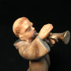 Tonsured Monk with a Trumpet Figurine