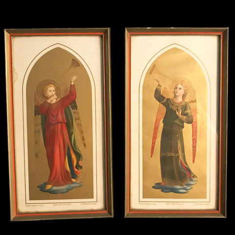 Pair of Trumpeting Angel Prints