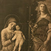 "Antique Print of ""The Virgin and Child Enthroned"""