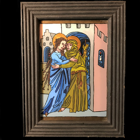 The Visitation Reverse Painting