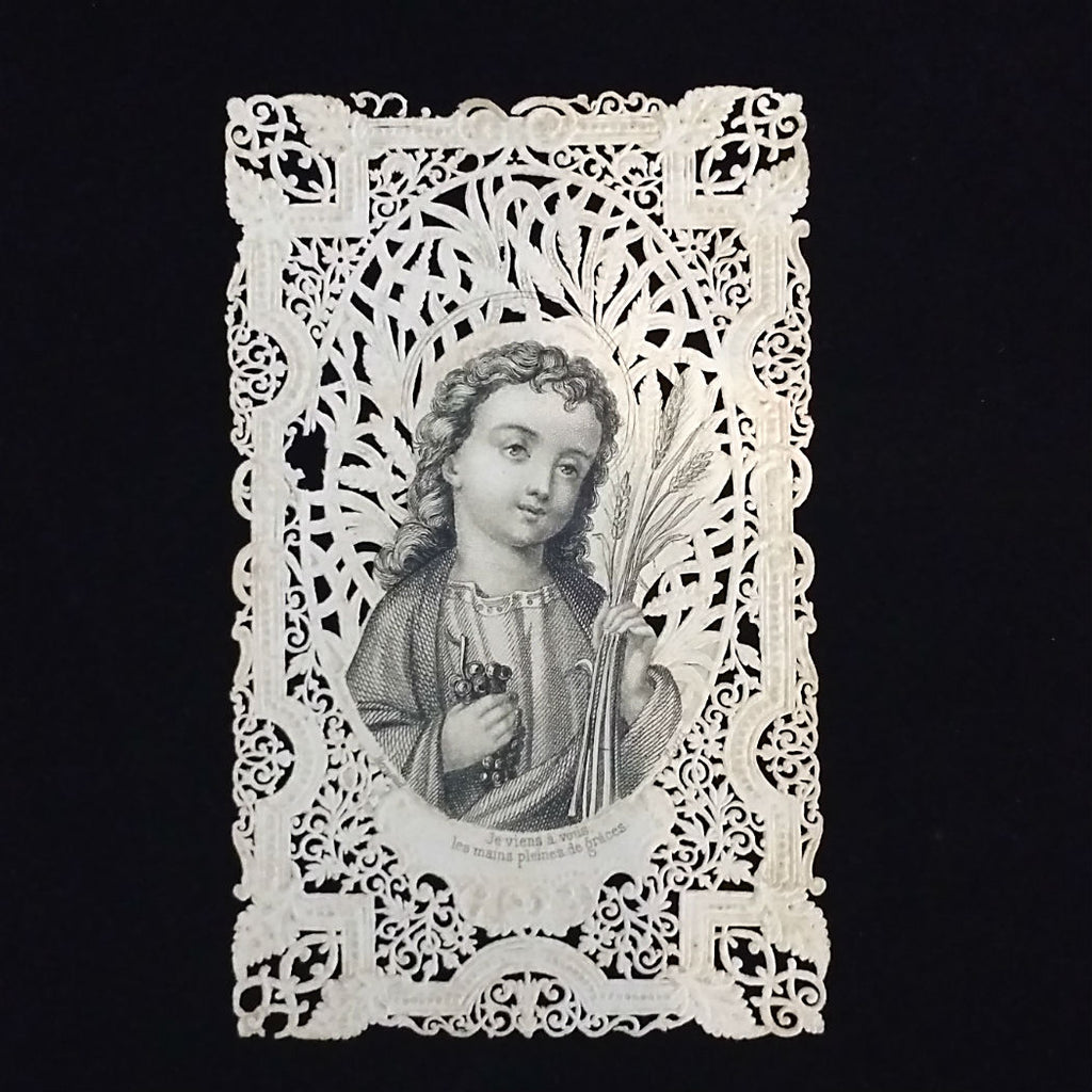 Lace Canivet Holy Card, French - The Vintage Catholic