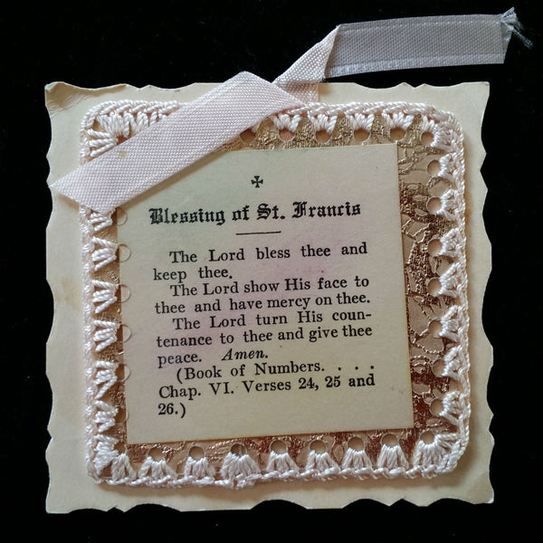 Blessing of Saint Francis Keepsake - The Vintage Catholic