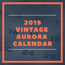 Load image into Gallery viewer, 2019 Vintage Aurora Calendar: Police and Fire