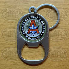 Load image into Gallery viewer, Aurora Brewing Company Bottle Opener Keychain