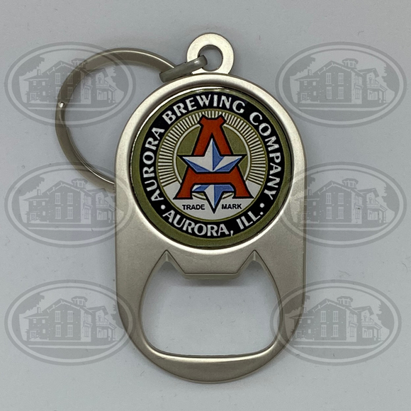 Aurora Brewing Company Bottle Opener Keychain