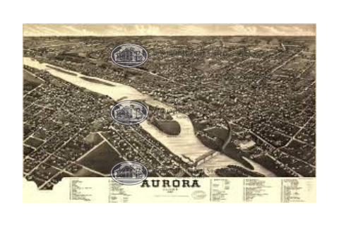 Birds Eye View of Aurora Poster