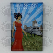 Load image into Gallery viewer, Aurora 175th Anniversary Magnet