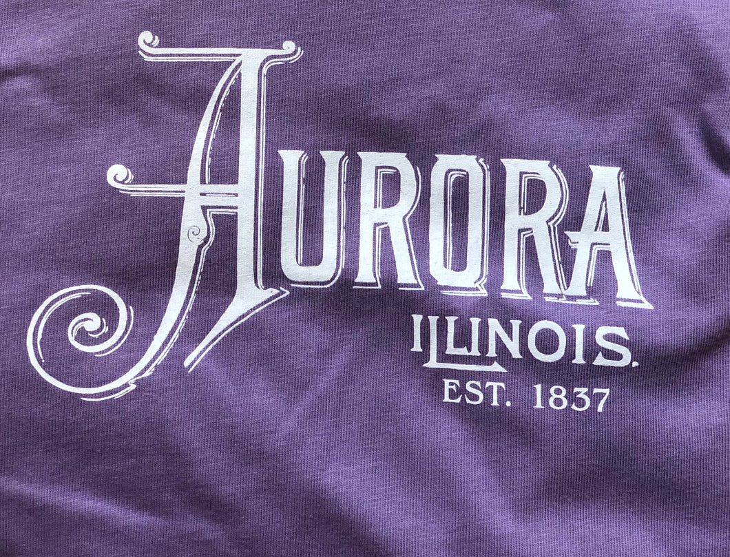 Ladies Aurora, Illinois V-Neck Tee