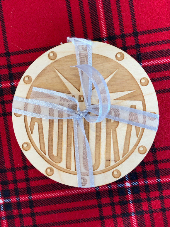 Made in Aurora Wooden Coasters (Set of 4)
