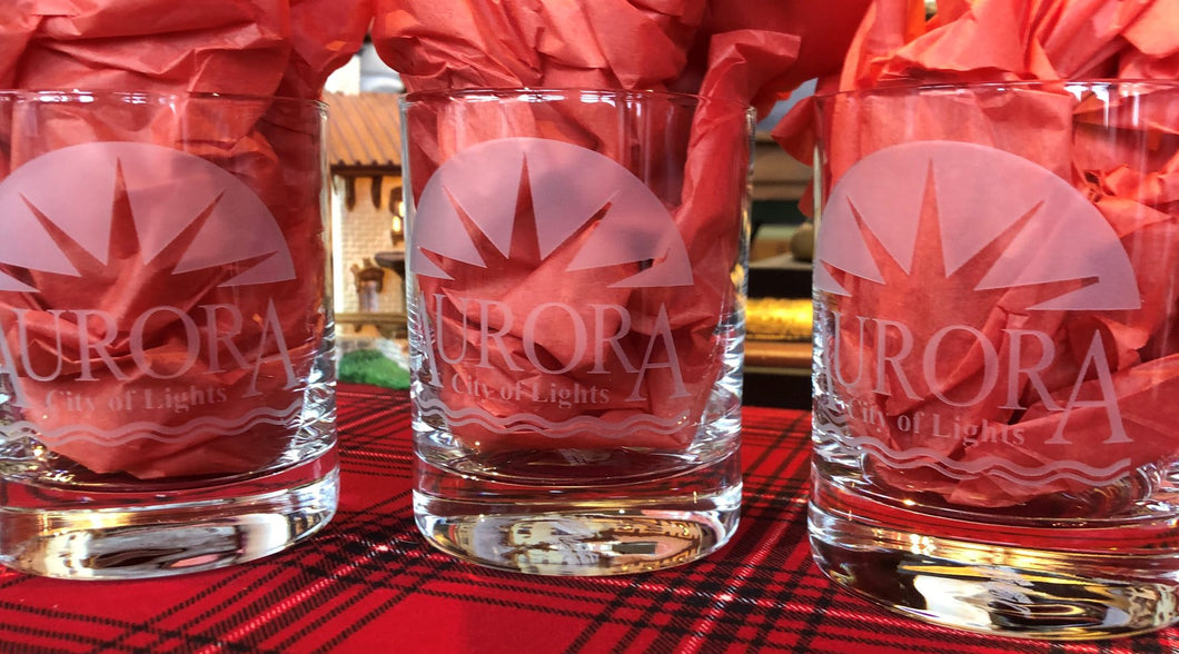Aurora Sunrise Whiskey Glass
