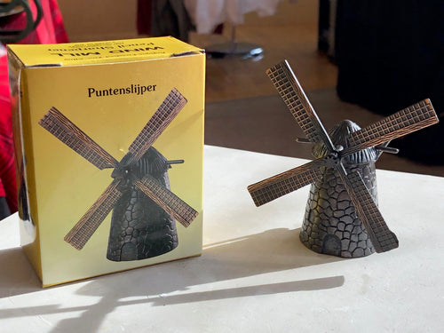 Die Cast Dutch Windmill Pencil Sharpener