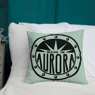Made In Aurora Graphic Pillow -- Web Store Exclusive