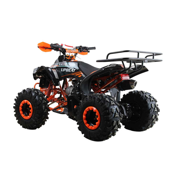 125cc Monster Quad Bike featuring Double Lights and Rear Rack