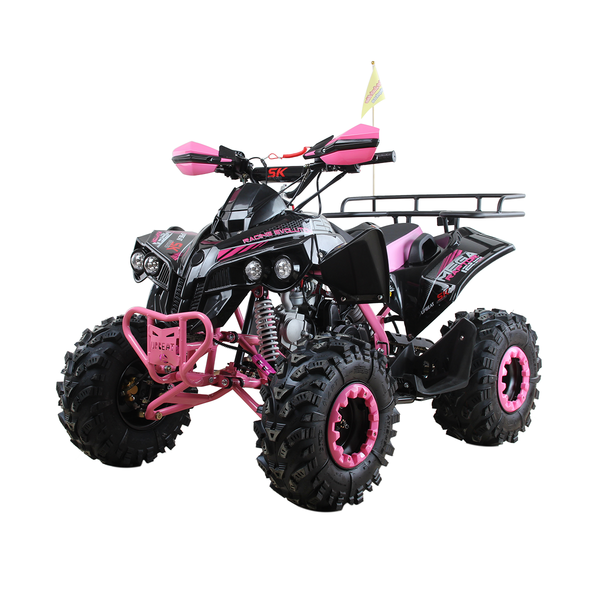 125cc Limited Edition Pink Quad Bike with Rear Rack