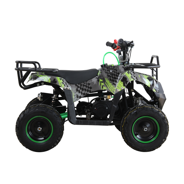 49cc Quad Bike Green Camo with Racks - Limited Edition