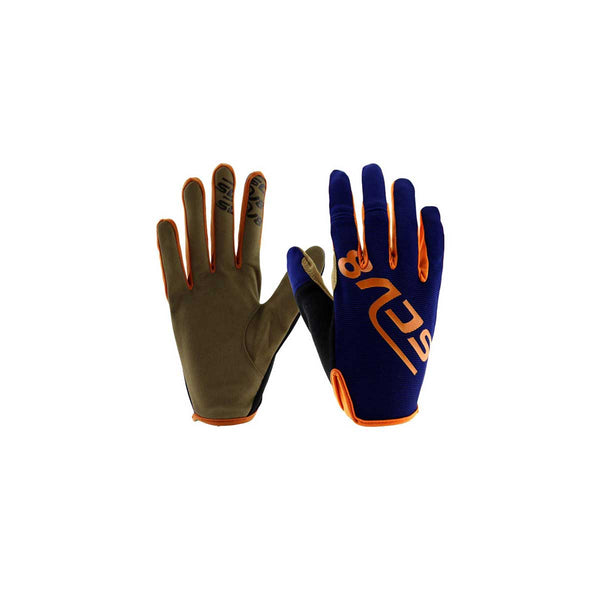 Green-Kids Protective Riding Gloves Blue