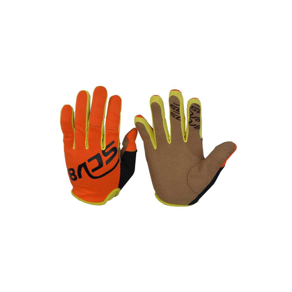 Kids Protective Riding Gloves Orange