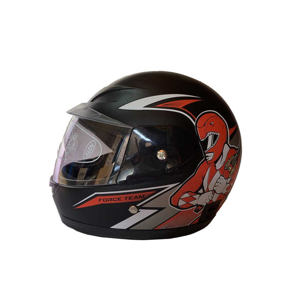 Kids Closed Face Helmets Power Ranger Black Red