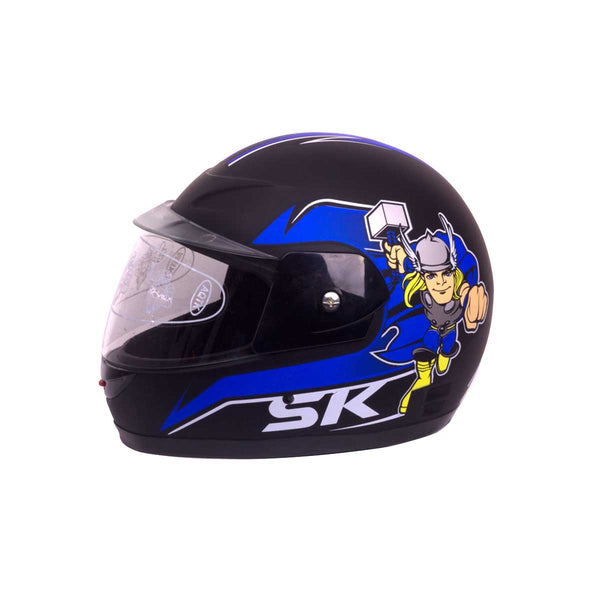Kids Closed Face Helmets Thor Black Blue
