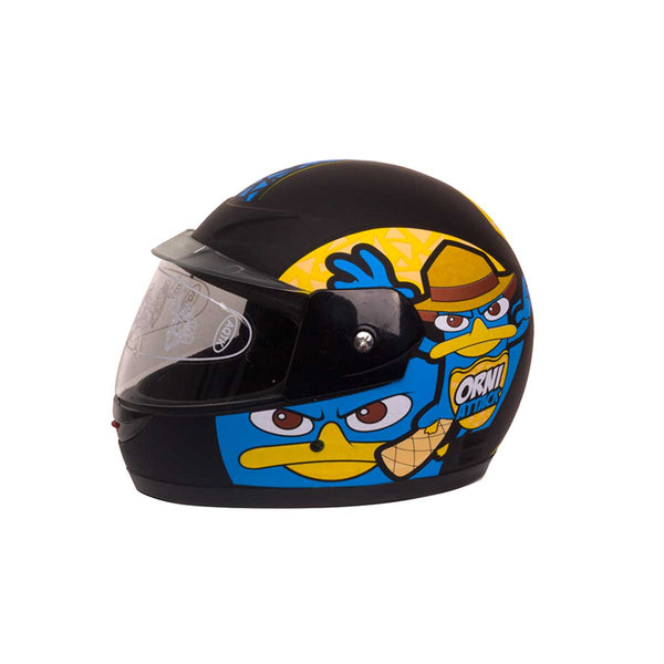 Kids Closed Face Helmets Perry Platypus Black Blue